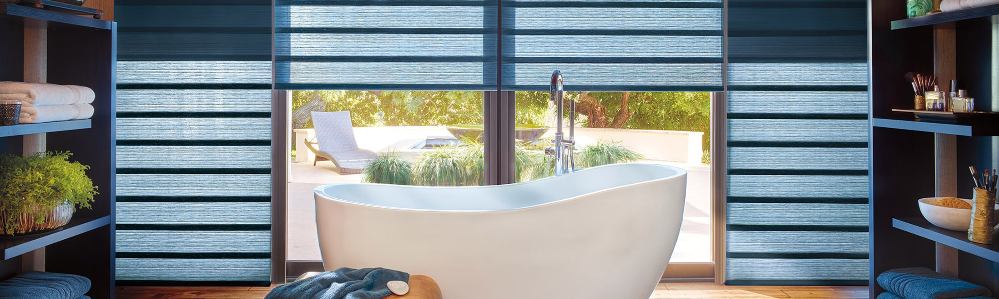 Bathroom With Clean Window Treatments