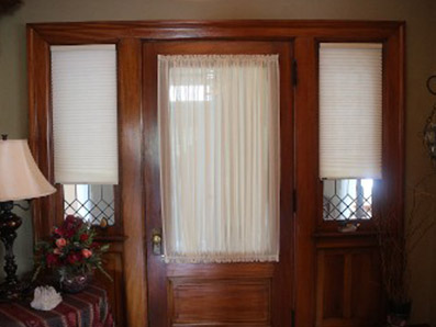 Clean Front Door Window Treatment