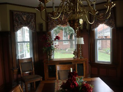 Clean Dining Room Window Treatments